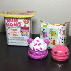 Num Noms Series 2 B. B. Scoops 2-118 and Berry Creme Gloss Up 2-129 Sealed  #NumNom
