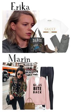 """""""Monday // Work & Errands After // 1/23/17"""" by graywolf520 ❤ liked on Polyvore featuring Chinti and Parker, Alice + Olivia, adidas Originals, Chloé, Banana Republic, Gucci, Siwy, Thumbprintz, Barneys New York and Burberry"""