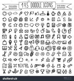 Vector Doodle Icons Universal Set Stock Vector (Royalty Free) 196917659 Discover this and millions of other royalty-free stock photos, illustrations, and vectors in the Shutterstock collection. Thousands of new, high-quality images added every day. Bullet Journal School, Bullet Journal Headers, Bullet Journal Banner, Bullet Journal Writing, Bullet Journal Notebook, Bullet Journal Aesthetic, Bullet Journal Ideas Pages, Bullet Journal Inspiration, Bullet Journal Icons