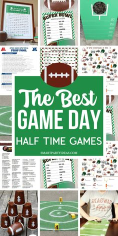 13 Clever Fun Super Bowl Party Games - Smart Party Ideas - Turn your Super Bowl. - 13 Clever Fun Super Bowl Party Games – Smart Party Ideas – Turn your Super Bowl Party into an - Football Party Games, Football Theme Birthday, Tailgate Games, Football Themes, Sports Party, Kids Party Games, Birthday Party Games, Super Bowl Party Games, Game Party