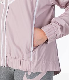 Detail 2 view of Women s Nike Sportswear Woven Windrunner Jacket in Particle  Rose White Windrunner ddc24d5a7