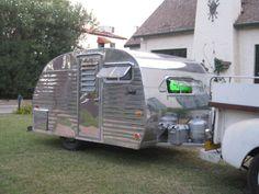 1958 Serro Scotty can ham like airstream travel trailer Airstream Travel Trailers, Camper Caravan, Vintage Campers Trailers, Vintage Caravans, Camper Trailers, Serro Scotty, Canned Ham, Happy Campers, Caravan