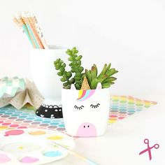 DIY Unicorn Planter by Damask Lovee