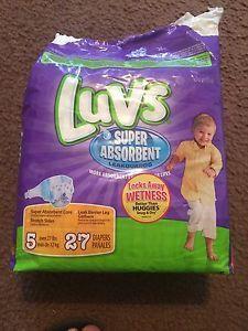 Luvs Super Absorbent Leak guards Size 5/27 Count Children's Diapers
