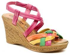 Dámske sandále na platforme Caffeine 290 multicolor | ESHOP OBUV-OBUV.sk