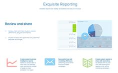 Create custom intelligence reports to share with executives