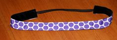 Sweaty Betty Band white with purple polka dots by KenaKreations, $8.00
