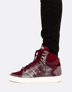 new product 9404e 9c882 Trendy Women s Sneakers   Adidas Originals Bankshot 2.0 Croc Effect High  Top Sneakers.