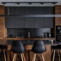New kitchen remodel plans interior design Ideas One Wall Kitchen, Kitchen Room Design, Modern Kitchen Design, Home Decor Kitchen, Kitchen Interior, New Kitchen, Home Kitchens, Modern Bar, Loft Kitchen