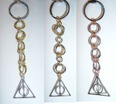 Deathly Hallows-inspired keychains - Set 2