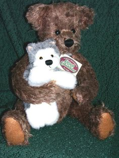 GANZ COTTAGE COLLECTIBLES PLUSH BEAR - BAILEY AND BO