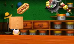 The game celebrates Independence Day by dangling hot dogs in the stores.
