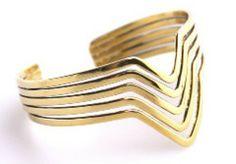 Open Triangle Cuff in Gold #UptownStrut