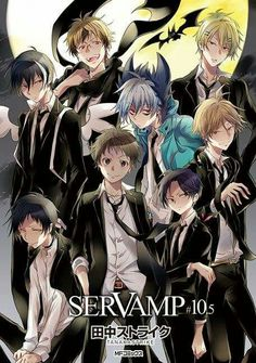 Servamp cover of Comic Gene(All in blacl except Kuro)