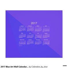 2017 Blue Art Wall Calendar by Janz Poster