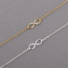 Cheap bracelets for, Buy Quality infinity bracelet directly from China chain bracelet Suppliers: Shuangshuo 2017 New Fashion Infinity Bracelet for Women with Crystal Stones Bracelet Infinity Number 8 Chain Bracelets bileklik Love Bracelets, Crystal Bracelets, Silver Bracelets, Fashion Bracelets, Friendship Bracelets, Bangle Bracelets, Fashion Jewelry, Bracelet Men, Silver Earrings