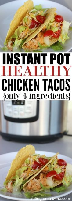 Looking for easy pressure cooker recipes? You are going to love this quick and easy Healthy Chicken Tacos Pressure Cooker Recipe. It is one of our favorite Instant pot recipes.
