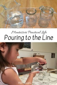 Montessori Practical Life — Pouring to the Line