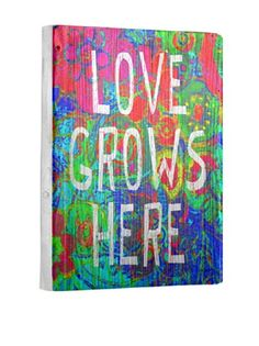 0% OFF Lisa Weedn Love Grows Here Reclaimed Finished Wood Portrait