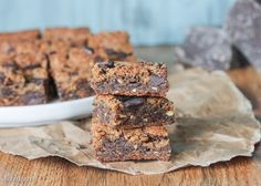 No one would guess that these Paleo Chocolate Chip Blondies are actually healthy! They're gluten free, refined sugar free, and come together in minutes.