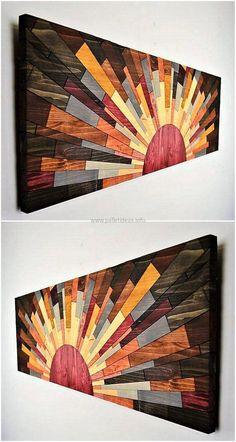 wood pallet wall art craft