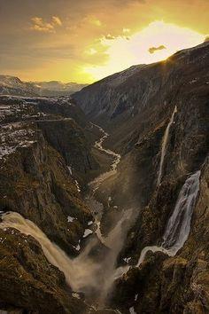 Vøringsfossen Waterfall, Hardanger Region, Norway