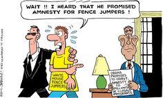 AMNESTY?!!!   Nov/14/14 Cartoon by John R. Rose -