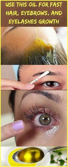 Use This Oil For Fast Hair, Eyebrows, and Eyelashes Growth