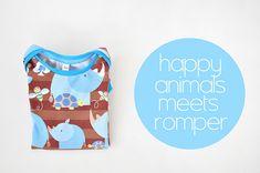 Happy Animals meets Kisuliini. Het romperpatroon. by Oon