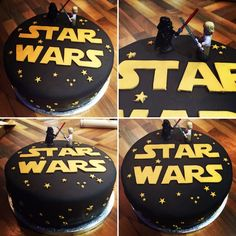 Simple Star Wars Birthday Cake. Perfect cake to make if you're a novice baker like me. Star wars fans will love this.