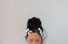 Felt flower headband Bridal Hair Accessories Wedding by nchorshop, $110.00