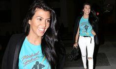 Kourtney Kardashian looks incredible in skinny jeans on night out