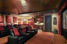 Home theater and bar