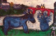 Marc Chagall - The Blue Donkey