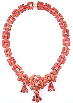 Victorian Carved Coral Necklace