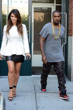 Kim and Kanye. Kimmy looks fabu