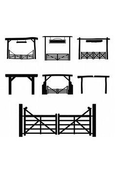 Farm Entrance Gates, Driveway Entrance Landscaping, Gates Driveway, Front Gates, Entry Gates, Wooden Farm Gates, Wood Fence Gates, Fencing, Cattle Gate
