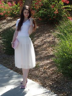 white and pink girly outfit, Compass lane Chic