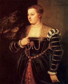 Venice, Republic of Venice  Tiziano Vecellio (Titian), 1560: Portrait of Titian's daughter Lavinia  Dresden, Dresden Gallery