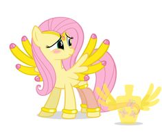 Poor Fluttershy she has jems on her :(
