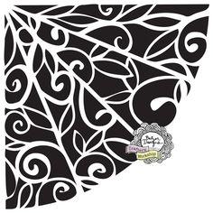 Balzer Designs: New Balzer Designs Stencils: Winter 2013: Flower Quarter stencil