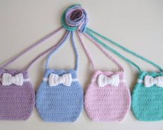 Crochet Bag Pattern Flower Shaped Purse INSTANT DOWNLOAD PDF Girl Long Strap Cute Uk And Us Terms No19
