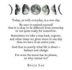 Today is a new day - Becca Lee #poetry