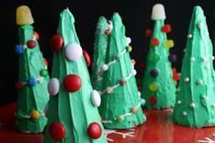 Edible Art - Waffle cone Christmas trees