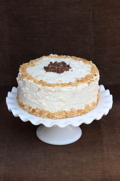 Chocolate Toasted Marshmallow Cake ~ My favorite chocolate cake recipe and topped it with toasted marshmallow frosting!