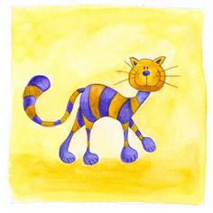 Cat 1 Painting  - Cat 1 Fine Art Print