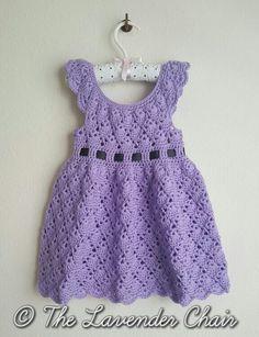Vintage Toddler Round Yoke Dress - Free Crochet Pattern - The Lavender Chair