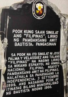 The historical marker that will be put up at a shrine at Casa Hacienda. Casa Hacienda is the house where poet Jose Palma wrote the lyrics of the Philippine National Anthem, Willie Lomibao  photo