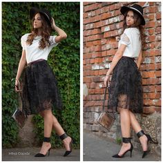 shades of cool lace skirt