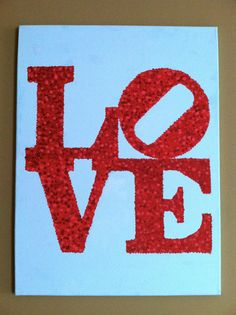 LOVE Canvas Painting  customizable by phillyshop on Etsy